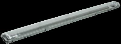 Светильник ДСП под лампу светодиодную 2хT8 G13 1265х125х70 IP65 ДСП2202 IEK