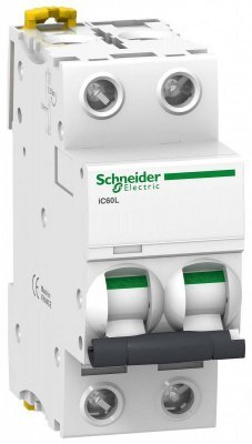 Автомат 2П 10A хар-ка C 25кА iC60L Acti9 Schneider Electric